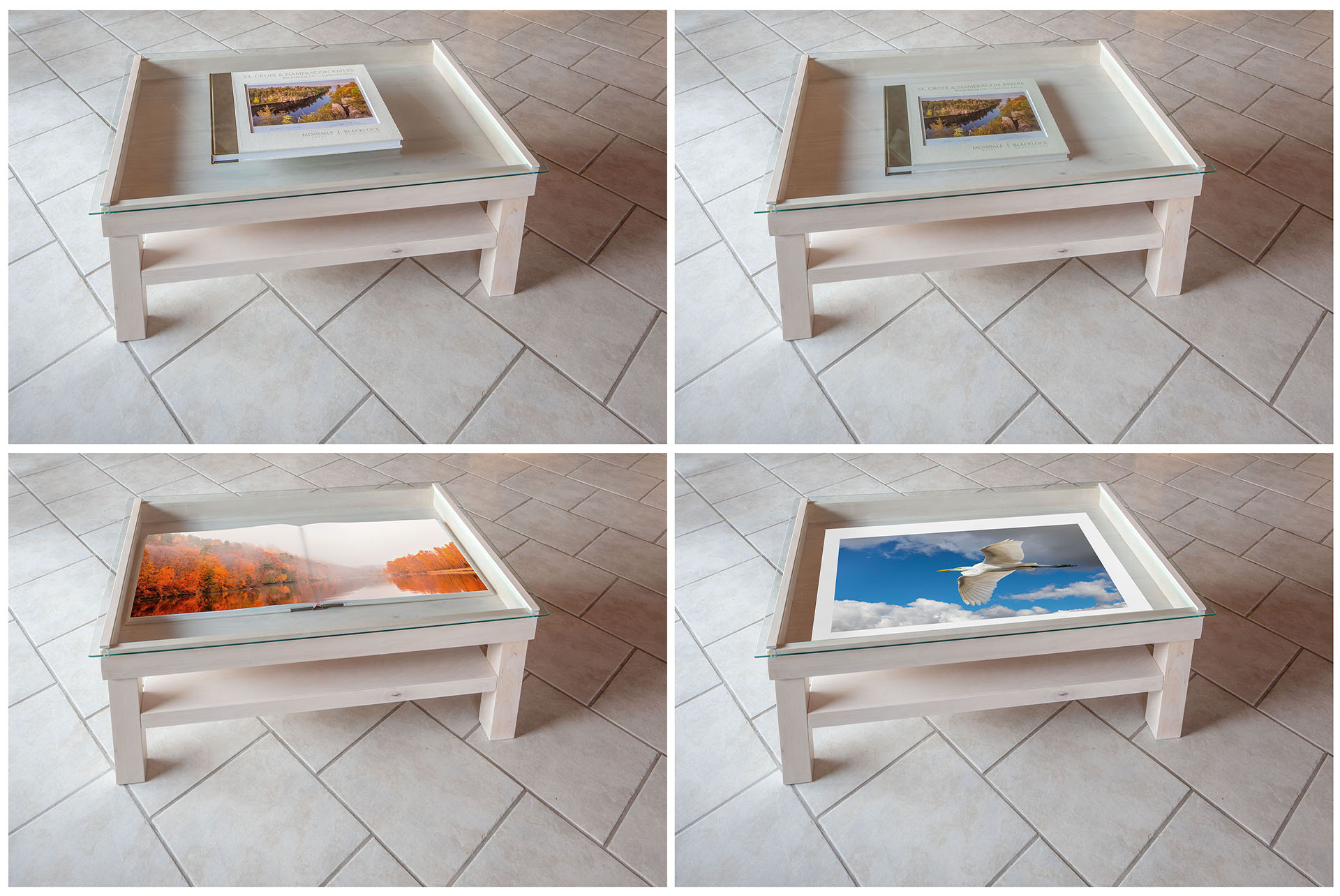 St Croix Photography Display Coffee Table